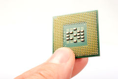 Processor unit over white Royalty Free Stock Photo