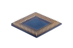 Processor on white background. A computer processor on a white background Stock Image