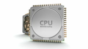 ProcessorCPU för central dator lager videofilmer