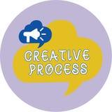 Processus créatif des textes d'écriture de Word Concept d'affaires pour l'acte d'établir de nouveaux rapports entre de vieilles i illustration stock
