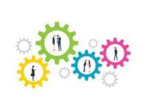 Processus d'affaires de travail illustration libre de droits