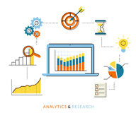 Processus d'Analytics Photo libre de droits
