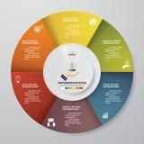 processus de 6 étapes Élément de conception d'abrégé sur Simple&Editable Vecteur Image libre de droits