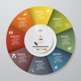 processus de 8 étapes Élément de conception d'abrégé sur Simple&Editable Vecteur Images libres de droits