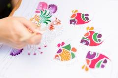 Processus de batik illustration libre de droits