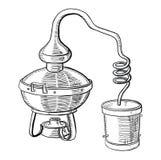 Processus de distillation d'alcool