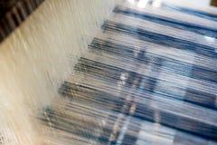 Processus de fabrication en soie Photographie stock libre de droits