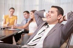 Processus de gestion d'entreprise lors de la réunion image libre de droits