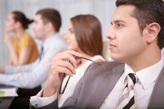 Processus de gestion d'entreprise lors de la réunion images libres de droits