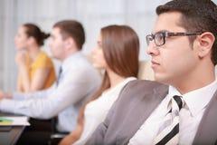 Processus de gestion d'entreprise lors de la réunion image stock