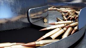 Processus de la production des balles Concept industriel Équipement et macine d'usine acier rendu 3d Photos libres de droits