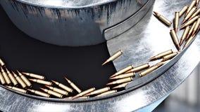Processus de la production des balles Concept industriel Équipement et macine d'usine acier rendu 3d Photographie stock libre de droits