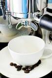 Processus de préparation de café photographie stock libre de droits