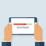 Processus de téléchargement, comprimé Photographie stock libre de droits