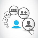 Processus de transmission social de gens illustration libre de droits