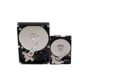 Processus du démontage des disques durs Photo libre de droits