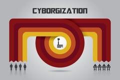 Processus Infographic de Tranformation Photos libres de droits