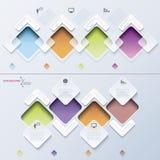 Processus moderne d'infographics de calibre avec des rectangles Photos stock
