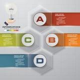 Processus moderne de 4 étapes Élément de conception d'abrégé sur Simple&Editable Image stock