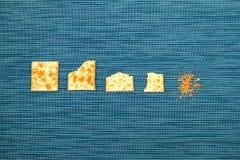Processus mordu de biscuits Photographie stock