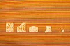 Processus mordu de biscuits Photo stock