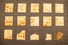 Processus mordu de biscuits Image stock