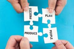 Processus, plan, les gens, produit Images libres de droits