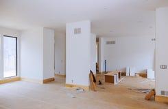 Processus pour en construction, la retouche, la rénovation, l'extension, la restauration et la reconstruction photos libres de droits