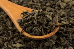 Proch zielona herbata fotografia stock