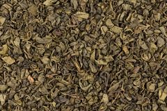 Proch zielona herbata fotografia royalty free