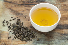 Proch zielona herbata Zdjęcia Stock