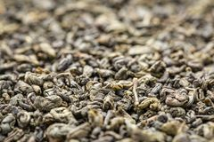 Proch zielonej herbaty tło obrazy stock