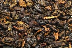 Proch zielonej herbaty zakończenie Up obrazy stock