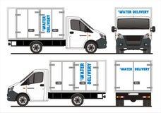 Prochain camion de livraison russe de l'eau de GAZ Images libres de droits