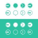 Prochain vert d'icône illustration de vecteur