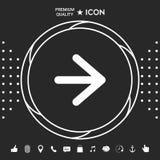 Prochaine icône de flèche illustration de vecteur