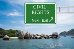 Prochaine sortie de droits civiques Photo libre de droits