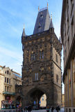 Prochowy wierza w Praga Obrazy Stock