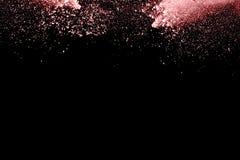 Prochowy wybuch Zbliżenie kolor cząsteczki wybuch odizolowywający Zdjęcia Royalty Free