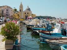 Procida海岛,意大利 免版税库存照片