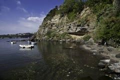 Procida海岛Corricella最旧的渔村  图库摄影