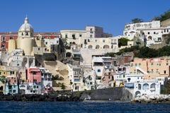 Procida, île en mer Méditerranée Photo libre de droits