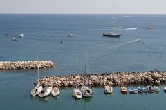 procida της Ιταλίας λιμενικών νη& Στοκ Εικόνες