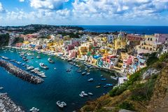 Procida beautiful island stock photography