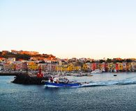 Procida, colorful island near the volcano Vesuvius near Naples and the island of Ischia, region Campania, Italy stock photo