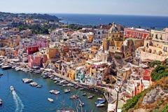 Procida d'île, campania, Italie Images libres de droits