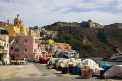 Procida-Insel auf neapolitanischer Bucht in Italien Stockfotografie