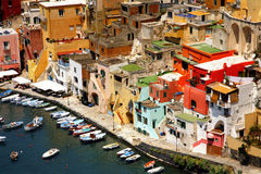 Procida, isla hermosa en el mar Mediterráneo Imagenes de archivo