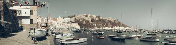 Procida, island in the italian sea coast, naples, italy royalty free stock image