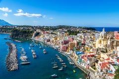 Procida island in Italy Stock Image